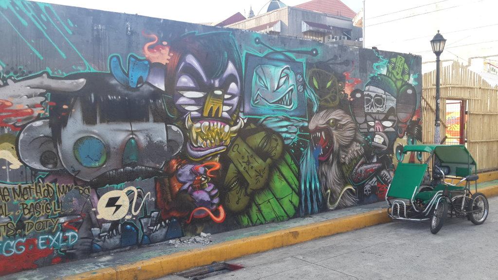 Fresque murale dans Manille Intra Muros