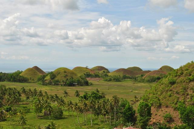 Les 'Chocolate Hills' sur l'île de Bohol aux Philippines.