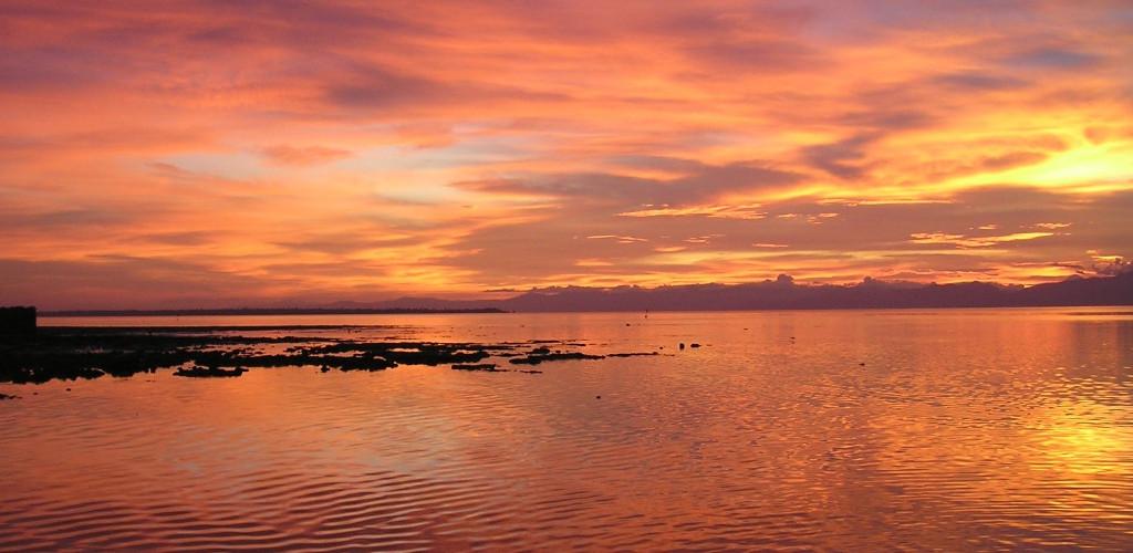 Un magnifique coucher de soleil aux Philippines.