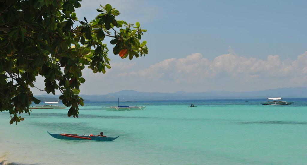 Une plage paradisiaque sur l'île de Bohol aux Philippines.