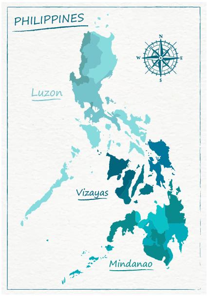 Carte des régions des Philippines