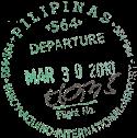 Tampon passeport visa philippines