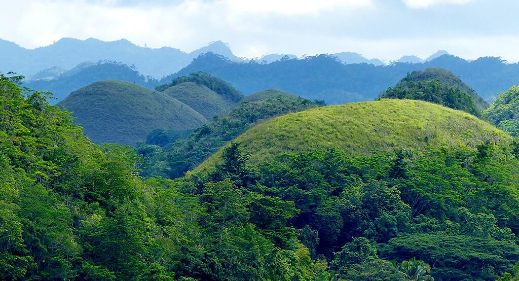 Chocolate hills à Bohol.