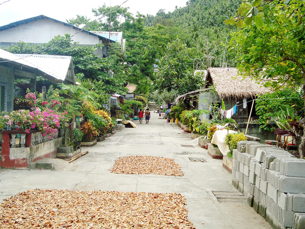 Village aux Philippines.