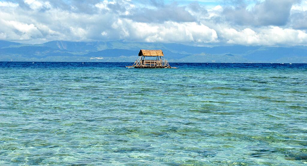 Vue sur la mer à Cebu.