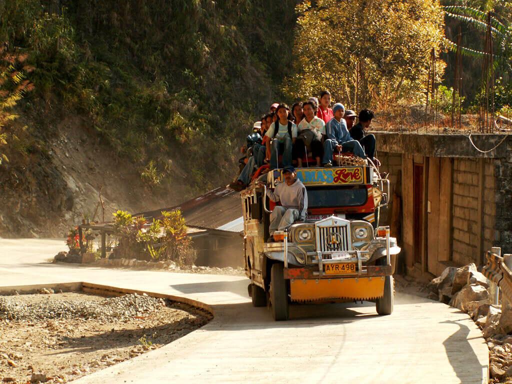 Bus populaire à Banaue.