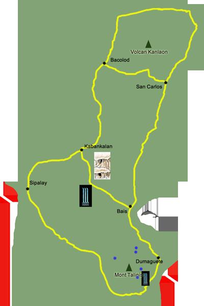 Carte de l'île d'Apo.
