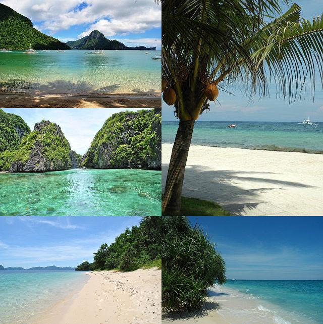Plages et îles paradisiaques aux Philippines.
