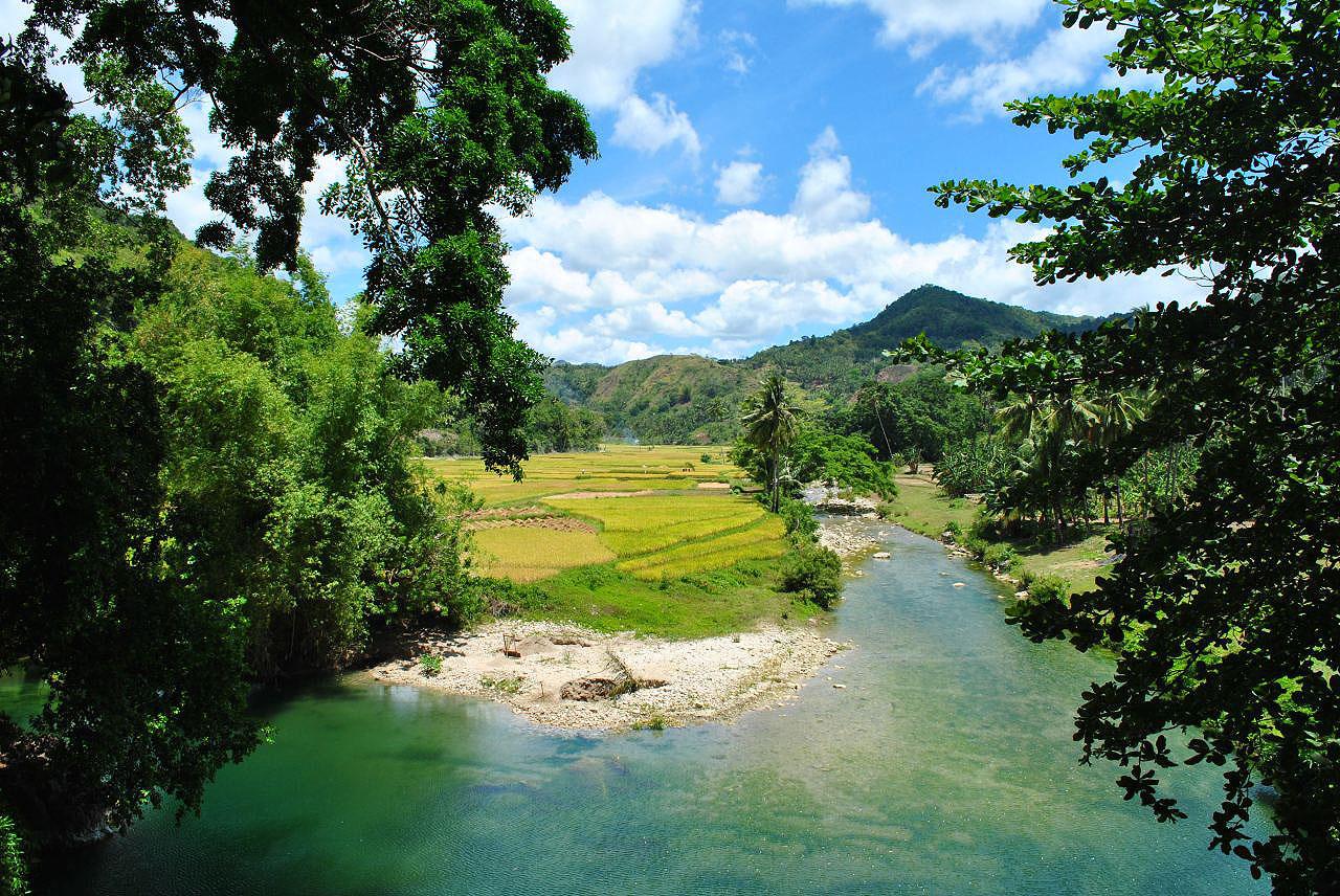 Les montagnes et campagnes des Philippines