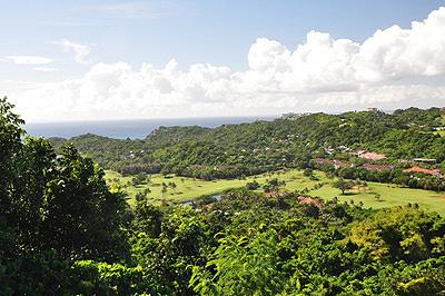 Vue depuis les montagnes aux Philippines.